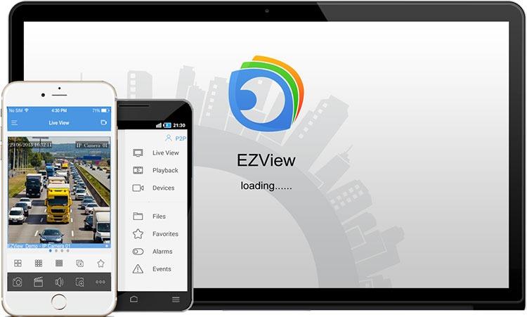 نرم افزار دوربین مداربسته موبایل رایگان EZView